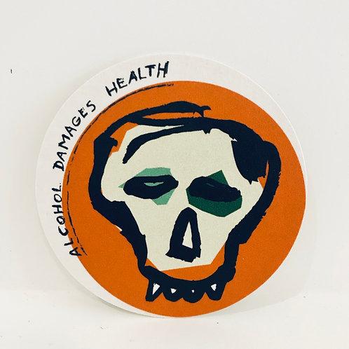 Albert Pepermans 'Alcohol Damages Health Coaster'