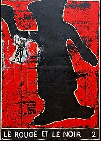 Le Rouge et le Noir 2, 150 x 107 cm, oil