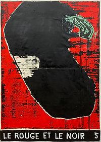Le Rouge et le Noir 5, 150 x 107 cm, oil