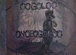 Ogoloo Onoeogoroo, oil on wood, 35 x 46