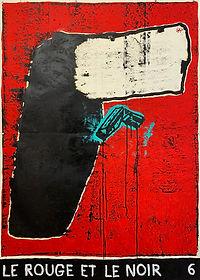 Le Rouge et le Noir 6, 150 x 107 cm, oil