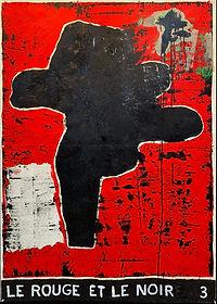 Le Rouge et le Noir 3, 150 x 107 cm, oil