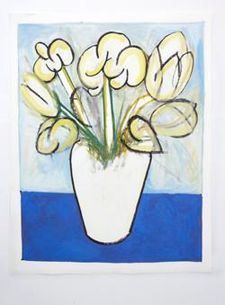 vase with tulips