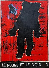 Le Rouge et le noir 1-107 x 150 cm -Oil