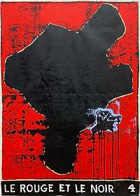 Le Rouge et le Noir 4, 150 x 107 cm, oil