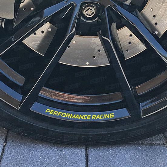 EZM PERFORMANCE RACING Alloy Wheel Rim Decals x 5