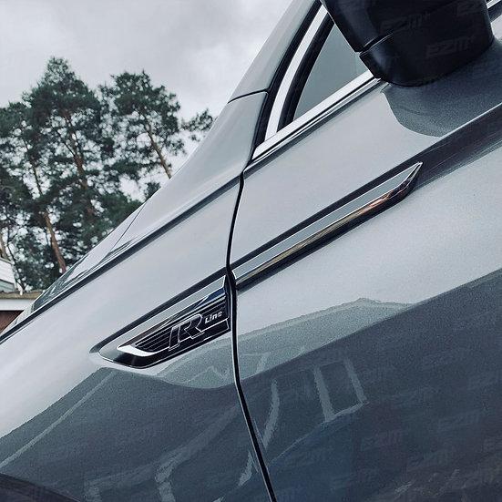 EZM Vinyl Wing Badge Overlays for VW Tiguan MK2 (5N) R-Line