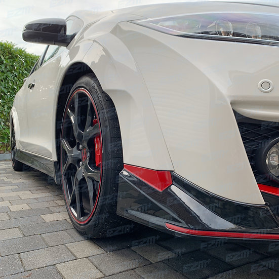 Front Bumper Side Tick Decals for Honda Civic Type R FK2
