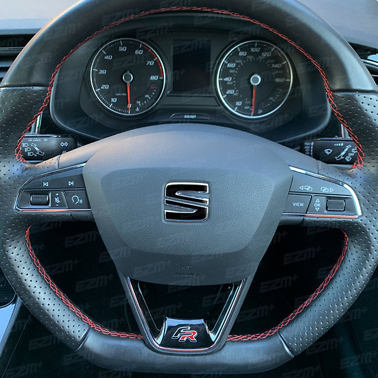 EZM Steering Wheel S Overlays for Seat Leon MK3 / MK3.5 FR