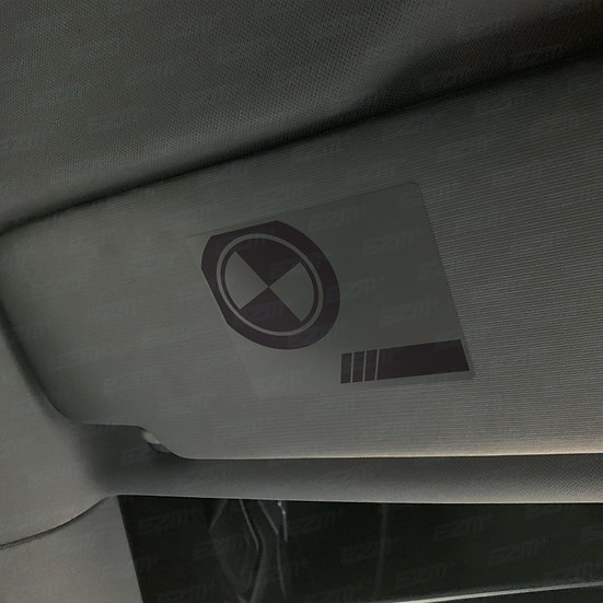 EZM Sun Visor 'Airbag Warning' Delete Decals x 2 for BMW Vehicles