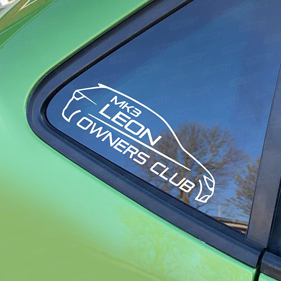 Official MK3 Leon Owners Club - Window Decal