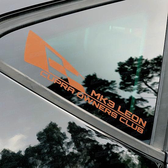 MK3 Leon Cupra Owners Club Metallic Copper - Window Decal