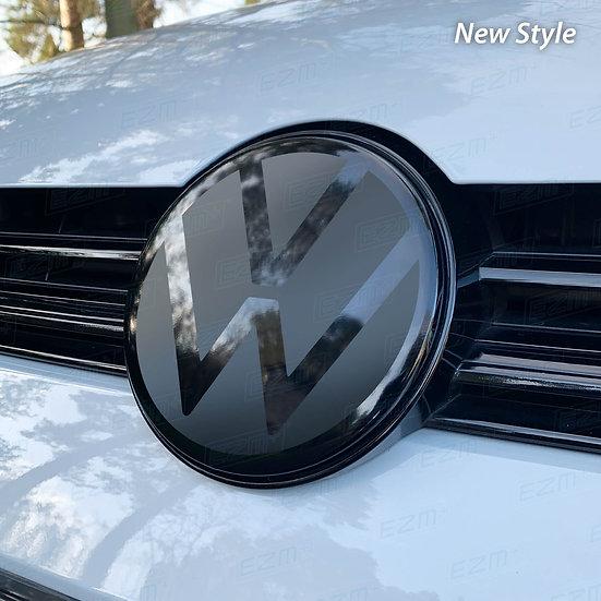 New Style EZM Front Radar Badge Dechrome Kit for VW Golf MK7.5 Models
