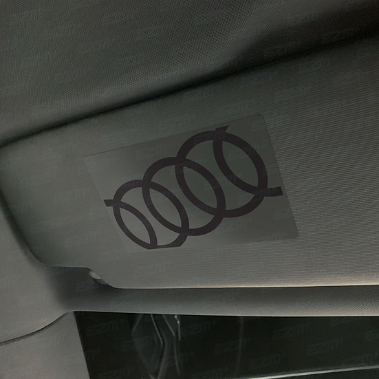 EZM Sun Visor 'Airbag Warning' Delete Decals x 2 for Audi Vehicles