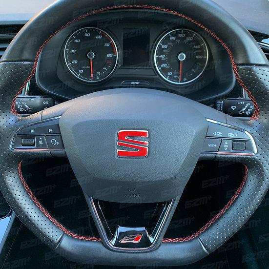 EZM Steering Wheel S Overlays for Seat Leon MK3 / MK3.5 Cupra