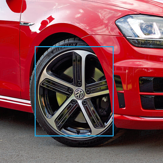 EZM FULL Blackout Decals for VW Golf MK7 MK7.5 18 Inch Cadiz Alloy Wheels