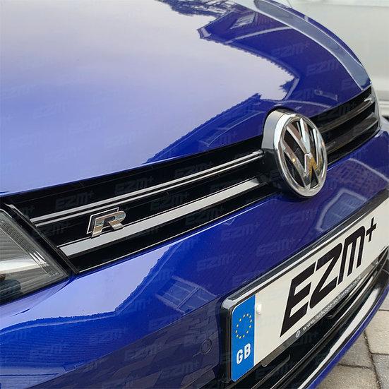 EZM Grille Overlay Dechrome Strip Decals for VW Golf MK7 R