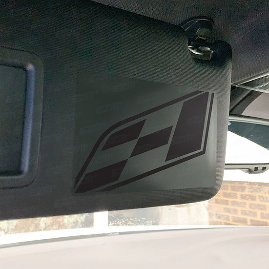 EZM Sun Visor 'Airbag Warning' Delete Decals x 2 for Seat Leon Cupra