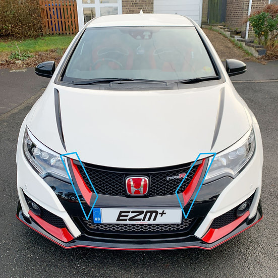 Front Grille Side Swoop Decals for Honda Civic Type R FK2