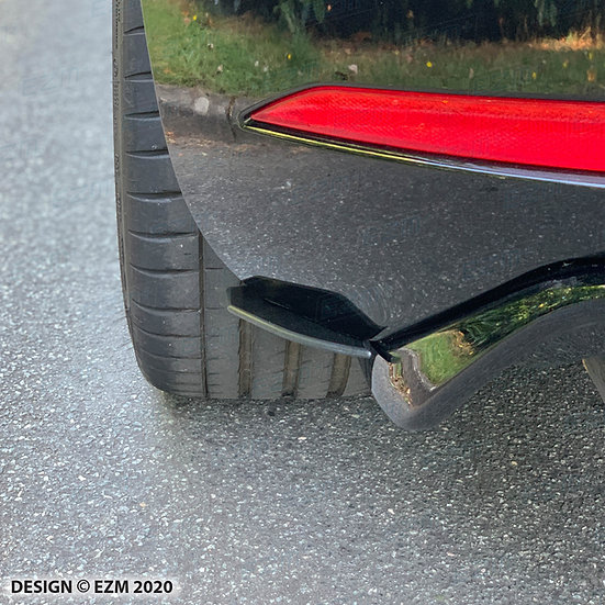 EZM Rear Diffuser Side Skirts / Spats / Fins for Seat Leon MK3 / MK3.5 Cupra