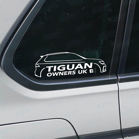 Official Tiguan Owners UK Facebook Group Window Decals