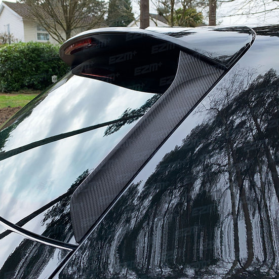 EZM Spoiler Pillar Overlays x 2 for Seat Leon MK3.5 Cupra