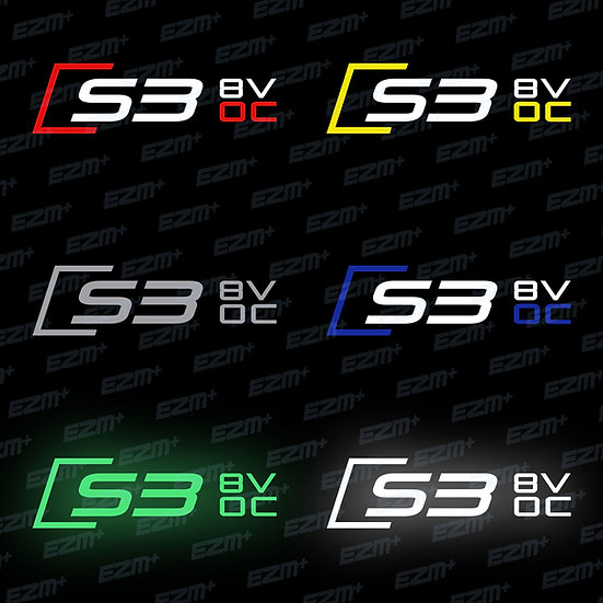Official Audi S3 8V Owners Club - Window Decal x 1