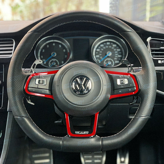 EZM Steering Wheel Pin Stripe Overlays for VW Polo MK5 6C GTI