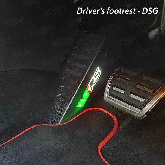 EZM Steel LED Footrest for Skoda Octavia MK3 VRS Models