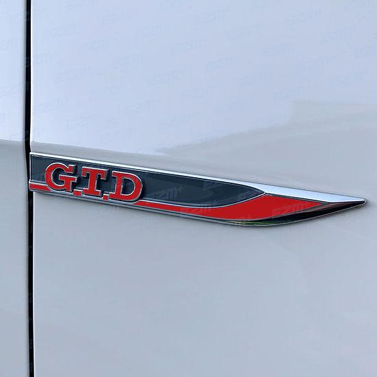 EZM Wing Badge Overlays x 2 for VW Golf MK7 / MK7.5 GTD