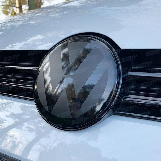 EZM Front Radar Badge Dechrome Kit for VW Golf MK7.5 Facelift Models