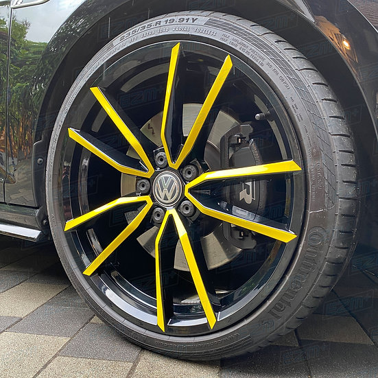 EZM Spoke Accent Decals x 20 for VW Pretoria 19 Inch Alloy Wheel