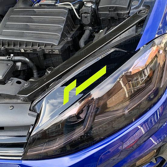 Racingline Headlight Decal x 1 for VW Golf MK7 / MK7.5 Models