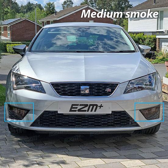 EZM Front Fog Light Tints x 2 for Seat Leon MK3 5F FR