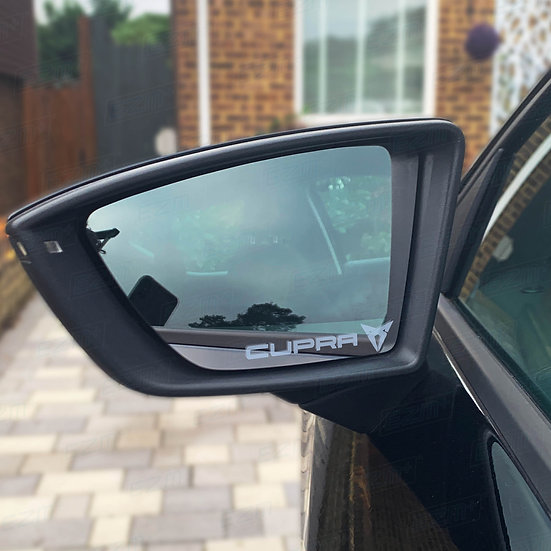 Frosted Wing Mirror Decals x 2 for Seat Leon Cupra Models
