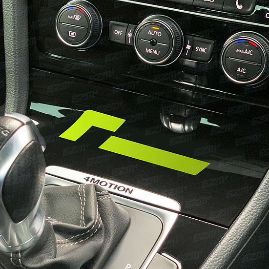 Racingline Centre Console Decal x 1 for VW Golf MK7 / MK7.5 Models