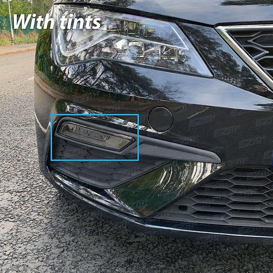 EZM Front Fog Light Tints x 2 for Seat Leon MK3.5 Cupra / FR