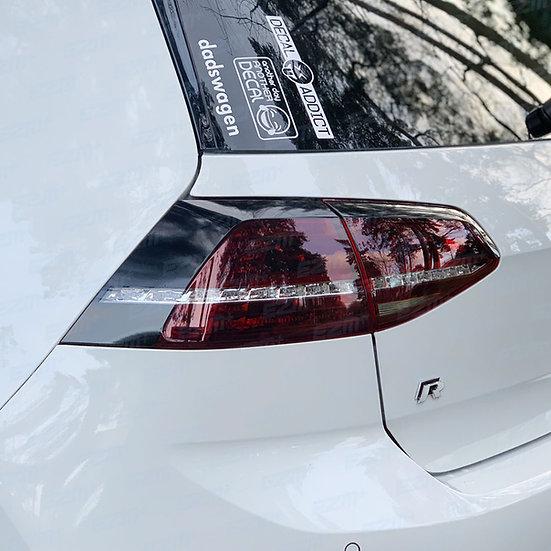 EZM Tail Light Stealth Overlays x 2 for VW Golf MK7 Models