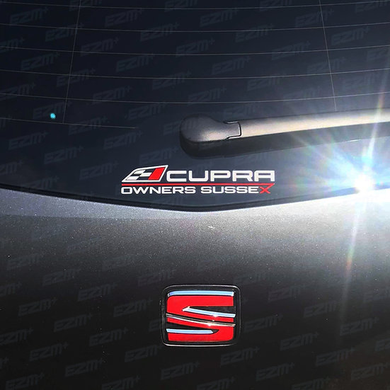Official Cupra Owners Club Sussex - Window Decal
