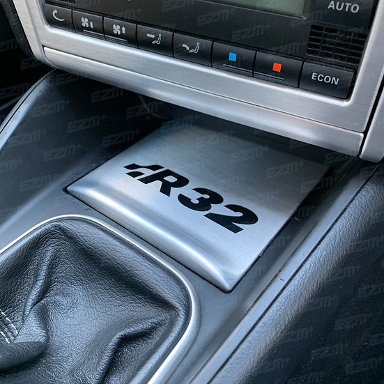EZM Matt Black Centre Console Decal for VW Golf MK4 R32