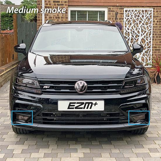 EZM Front Fog Light Tints x 2 for VW Tiguan MK2 (5N)