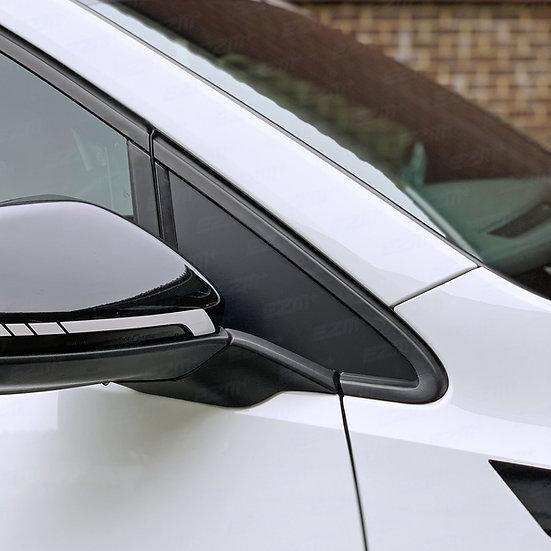 EZM Front Window Triangle Inserts x 2 for VW Golf MK7 / MK7.5 Models