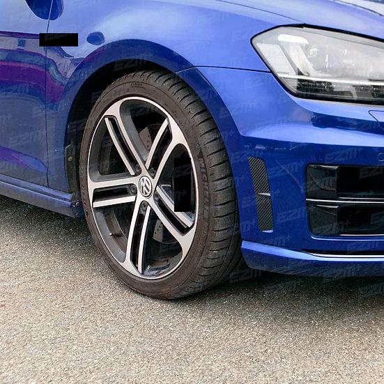 EZM HALF Blackout Decals for VW Golf MK7 / MK7.5 18 Inch Cadiz Alloy Wheels