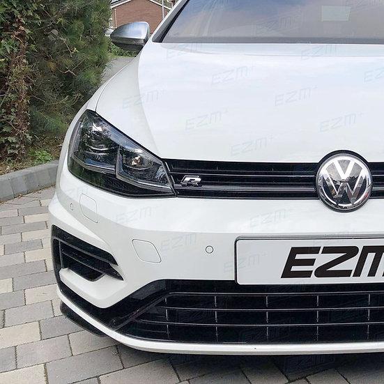 EZM Grille Overlay Dechrome Strip Decals for VW Golf MK7.5 R