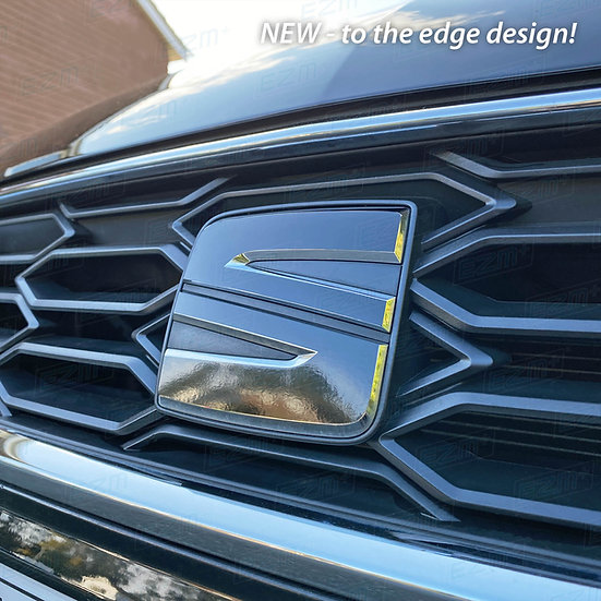 NEW EZM S Badge Overlays x 2 for Seat Leon MK3 / MK3.5 Facelift Models