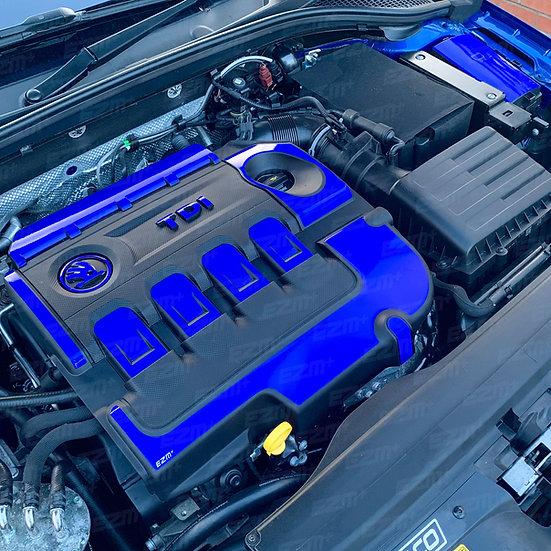 EZM Engine & Fuse Box Cover Decals for Skoda Octavia MK3 VRS TDI