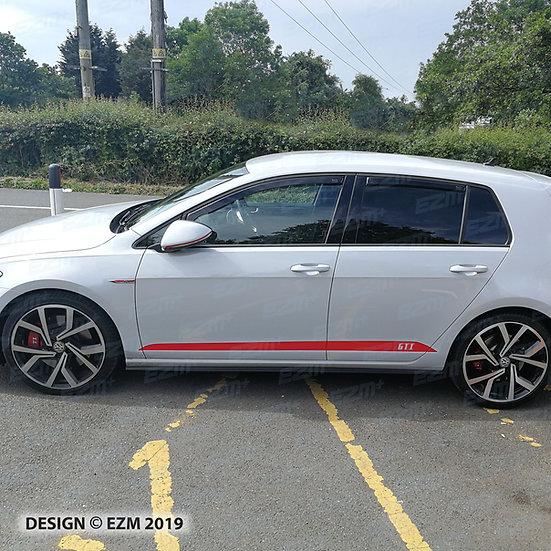 EZM Side Stripe Decals for VW Golf MK7 / MK7.5 Facelift GTI