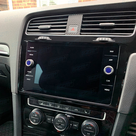 EZM Radio / Head Unit Knob Overlays x 2 for VW Golf MK7 / MK7.5 Models