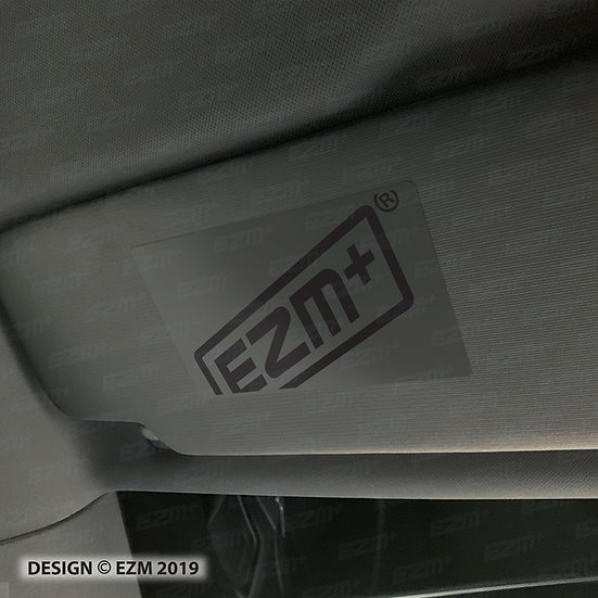 EZM Sun Visor 'Airbag Warning' Delete Decals x 2 for Seat Leon MK3 & MK3.5