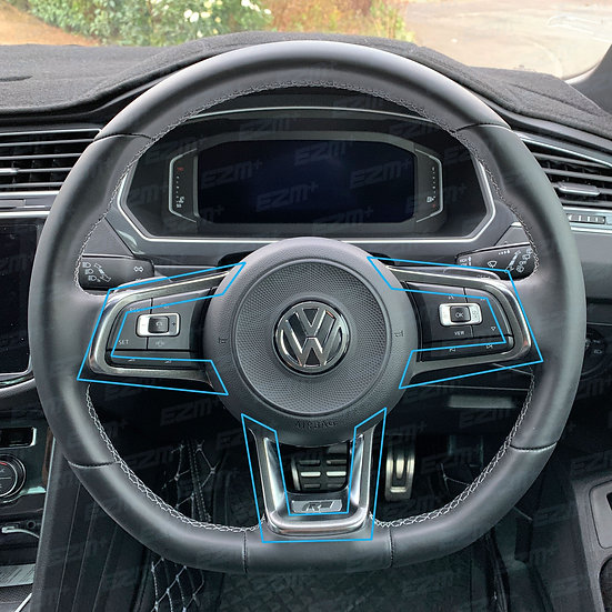 EZM Steering Wheel Pin Stripe Overlays for VW Tiguan MK2 (5N) R-Line